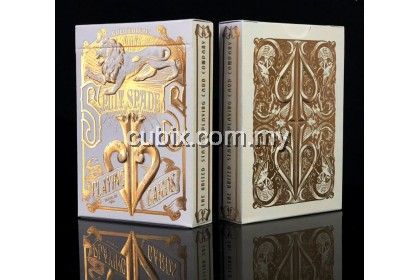 GOLD SPLIT SPADES Playing Cards Bicycle Ellusionist Theory11