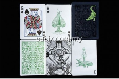 GATORBACKS METALLIC GREEN Playing Cards Bicycle Ellusionist Theory11