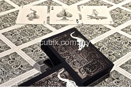 GATORBACKS BLACK SILVER Playing Cards Bicycle Ellusionist Theory11