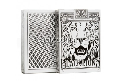 BLACK LIONS SECONDS Playing Cards Bicycle Ellusionist Theory11