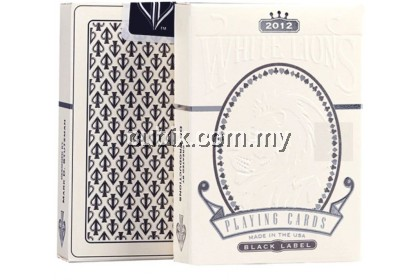 WHITE LIONS SERIES B BLACK LABEL Playing Cards Bicycle Ellusionist Theory11