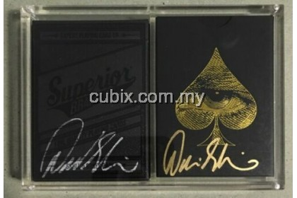 SIGNED SKULL AND BONES SUPERIOR & PRIVATE RESERVE Playing Card Bicycle Ellusionist Theory11