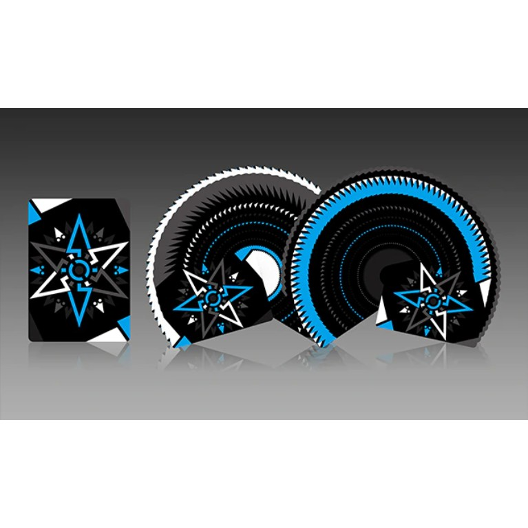 CARDISTRY FANNING (BLACK BLUE) Playing Cards Bicycle Ellusionist Theory11