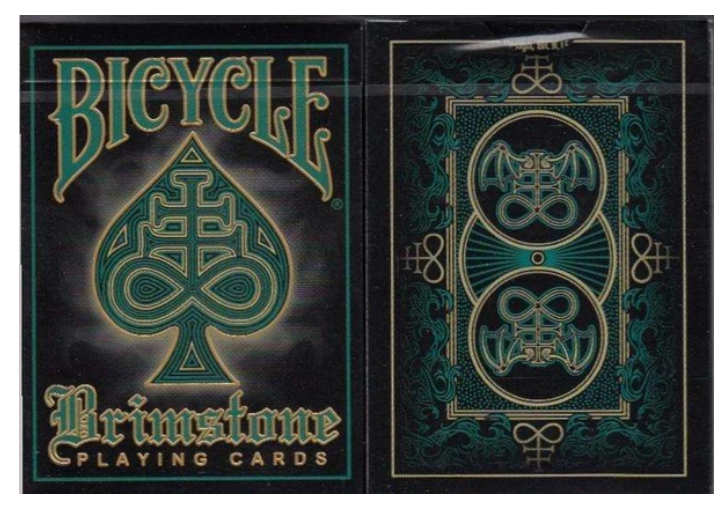 BRIMSTONE GREEN BICYCLE Playing Cards Ellusionist Theory11