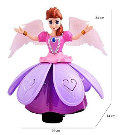 Dancing Princess Toys Flash Music Puzzle Electric Rotating Toy